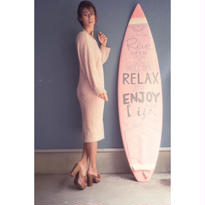 Feather knit one piece
