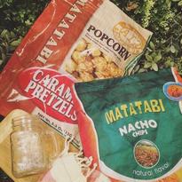 Junk food clutch bag