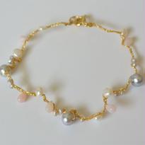 金糸ブレスレット sweet pearl