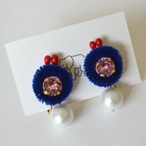善玉菌のイヤリング  ブルー
