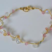 金糸ブレスレット pink cloud