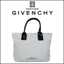 ジバンシー バッグ GIVENCHY トートバッグ ジバンシーノベルティ ホワイト キャンバス ハンドバッグ[GC-18]
