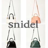 Snidel【スナイデル】セミサークルバッグ | ハンドバッグ | 2way | レザー | レディース | ショルダーバッグ!![SD-08]