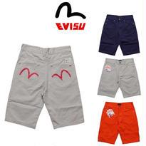 [激安・数量限定]国内当日発送 最新商品 EVISU (エヴィス) コットン ハーフパンツ メンズ!半ズボン「EV20」
