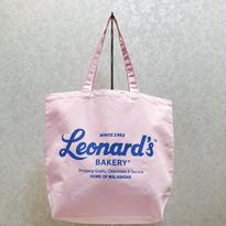 Leonard'sロゴ入りトートバッグ(L)(ピンク)