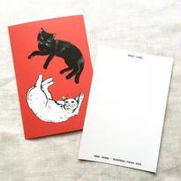 nemunoki:シロとクロ ポストカード