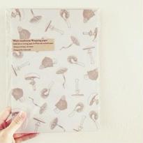 nemunoki:白きのこ包装紙 2種類入り