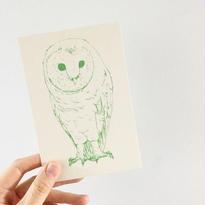 nemunoki:ハーフエアポストカード ふくろう [p36]