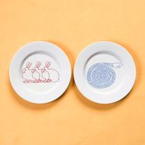 [Sabato]plate 18cm CONIGLIO / SERPENTE