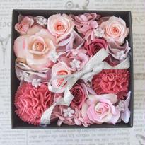 BOX FLOWER pink
