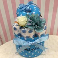 出産祝いおむつケーキ〔赤ちゃん布おもちゃ〕