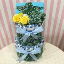 出産祝いおむつケーキ(半袖80サイズ)