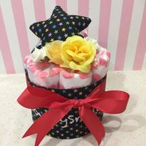 出産祝いおむつケーキ  (布おもちゃ)
