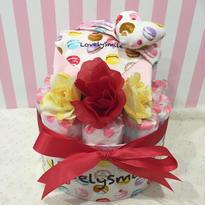 出産祝いおむつケーキ(長袖サイズ70)