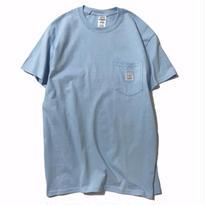 LUCKYWOOD【 ラッキーウッド】BASIC POCKET TEE  ポケット Tシャツ ライトブルー