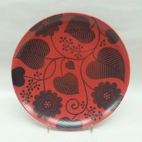 波佐見焼 22㌢皿レッド
