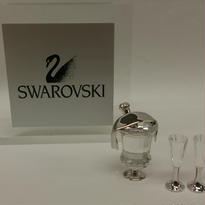 Swarovski  シャンパンとシャンパングラス