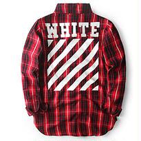 Off-White オフホワイト SA級 高品質 ヨーロッパ チェック シャツ アウター