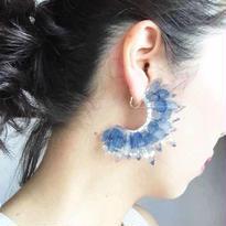 つらら ピアス blue flowers
