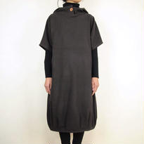 Kimamaフードバルーンワンピース(木綿 濃紺)【受注生産対応】  のコピー