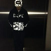 A BATHING APE15A/W REFLECTION CAMO PANEL FULL ZIP HOODIE