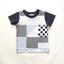 【Tappet】ジオメトリーTシャツ  (ネイビー) 80-140cm <to>