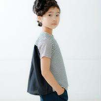 【nunuforme】バックフレアT(ホワイト×ブラック)95-145cm
