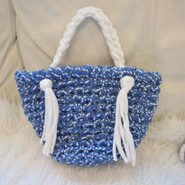 hoooked zpagetti marché bag (blue&white)