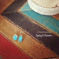 turquoise sleeping beauty flaming pierce