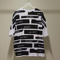 NEW WORLD 総柄スペシャル ビッグシルエットTシャツ