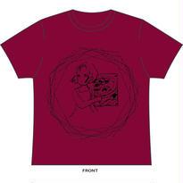 異次元 Tシャツ(バーガンディ)