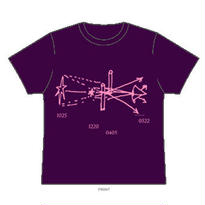 幾何  Tシャツ(パープル)