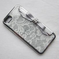 Hime. フランス製リバーレースインフリップ手帳型iPhone6/iPhone7ケース