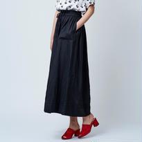 Linen  Gather パンツ / ブラック