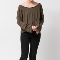 SPIMA COTTON L/S Tシャツ / カーキブラウン