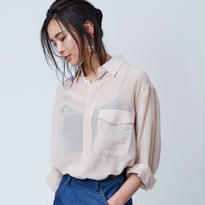 Silk Over シャツ / ピンクベージュ