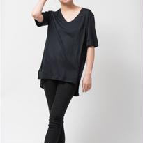 SILK OVERSIZEDE Tシャツ / BLACK