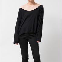 SPIMA COTTON L/S Tシャツ / ブラック