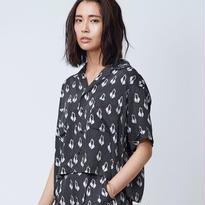 Swan Rayon シャツ / ブラック