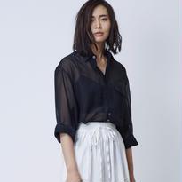 Silk Over シャツ / ブラック