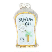 Sun Tan Oil Brooch