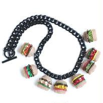 Hamburger Charm Necklace