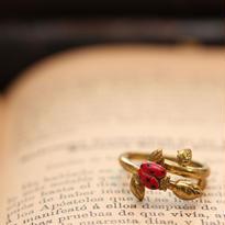 *Ladybug&Roseflower budリング