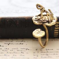 *FrogSpecimen&Lotus leafリング