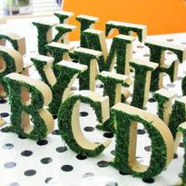 アルファベット インテリアグリーン A~Z・&