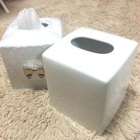 白磁キューブ型ティッシュBOX
