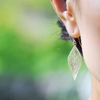 山野草の葉っぱ【S】両耳ピアス 14kgf