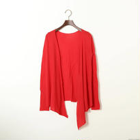 """PITATTO"" CARDIGAN /ROSE RED"
