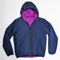 Supreme 16AW Reversible Hooded Puffy Jacket Navy × Purple <M>