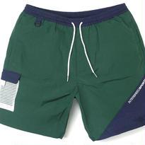 INTERBREED Wrinkled Nylon Shorts